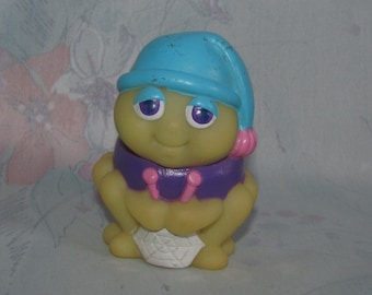 Vintage Glow Worm - Glo Friend from Wendy's - Glo Spider, Knitting Web - Blue Purple Body