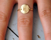 Initial Monogram ring. 14kt gold filled - custom size, monogram