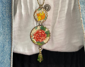 """Tin Jewelry Necklace """"Test of Time"""" Tin for the Ten Year, Tenth Wedding Anniversary"""