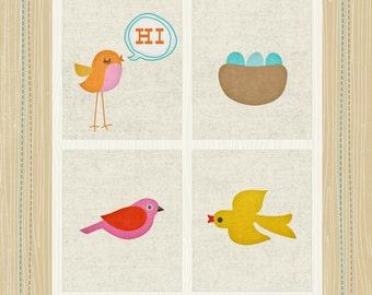 Birds Applique Pattern
