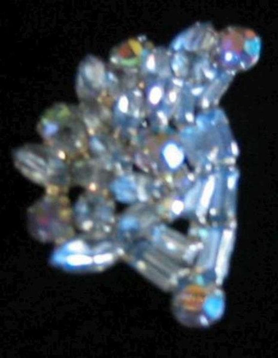 Weiss Light Blue Brooch