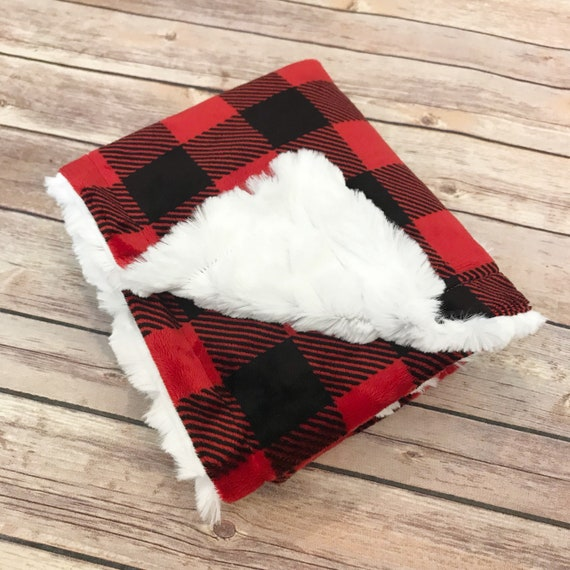 Infant Baby Blanket - Buffalo Plaid Baby Blanket - Woodland Nursery - Car Seat Blanket - Buffalo Plaid Nursery - Buffalo Plaid Baby Shower