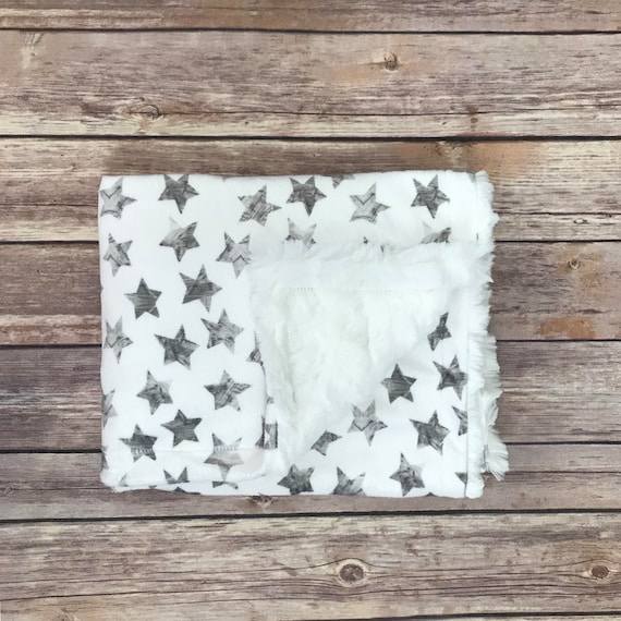 Infant Baby Grey Star Lap Car Seat Blanket - Star Baby Nursery Bedding
