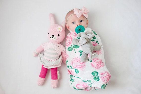 Swaddle Blanket - Rose Swaddle - Floral Swaddle - Rose Baby Blanket - Floral Baby Blanket - Floral Nursery - Floral Baby Bedding - Pink Baby