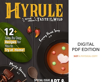 HYRULE Taste of the Wild [DIGITAL ZINE] Zelda botw Breath of the Wild fanzine e-book