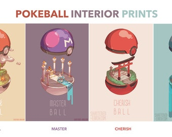 Pokemon Pokeball Interior Art Poster Print