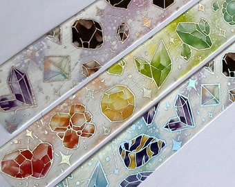Crystal Gem Stones Houseki no Kuni Land of the Lustrous Silver Holo Foil Holographic Rainbow ARTIST Washi Tape