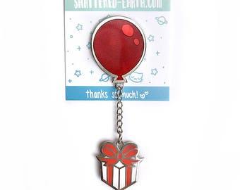 Animal Crossing Balloon Present Pin - ACNL New Leaf Enamel Pin Animal Crossing Present