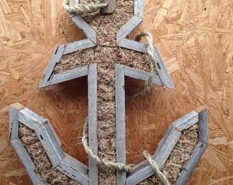 DIY Anchor Shaped Succulent Planter Large