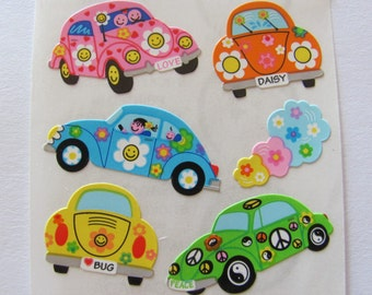 Sealed Package Sandylion Kromekote Stickers CARS RACE CAR