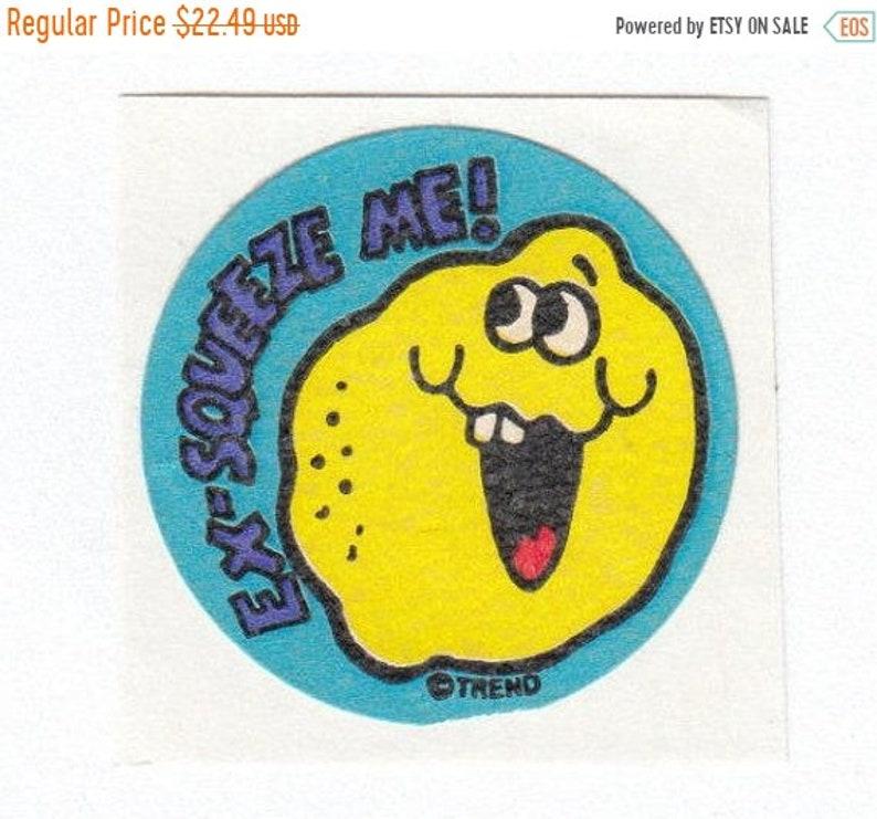 LEMON matte Vintage Trend Scratch and Sniff Stinky Sticker