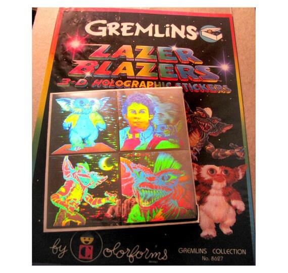 Vintage Gremlins Lazer Blazer Stickers Brand New