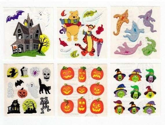 FREE SHIPPING OFFER Sandylion Stickers SKULLS Glittery Stickers