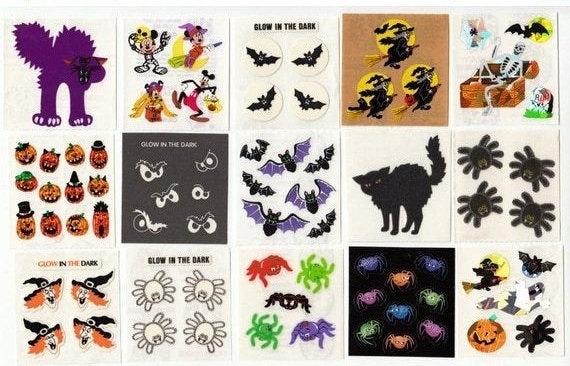 Sandylion Vintage GLOW in the DARK HALLOWEEN Scrapbook Stickers *RETIRED DESIGNS