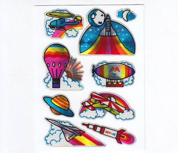 Prism moon locket sticker