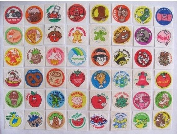 Mint!! Tomato Vintage 80s Matte Trend Scratch /& Sniff Sticker