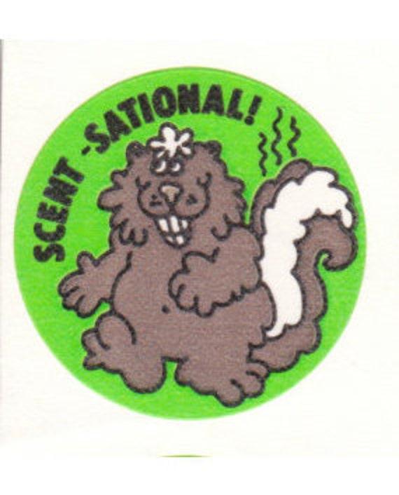 4 Vintage Trend Matte Scratch /& Sniff Stickers Trend Sticker Folder