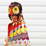Kids, teen, adult Owl dress up costume cape and mask set