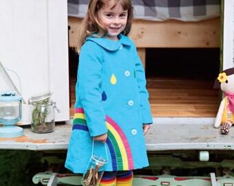 30efcb641e7 Rainbow coat   Etsy