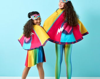 c2f30010e1fc Girls Superhero Cape, super hero gift, kids dress up, girl power, pink  heart , strong heart gift, super mum gift, superhero family set