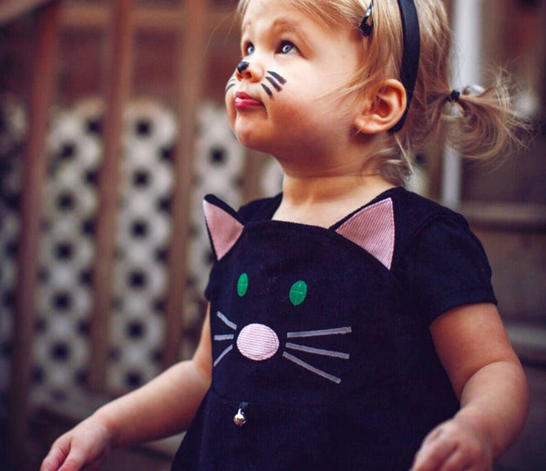 Girls Halloween cat dress costume  baby dress toddler girls image 0