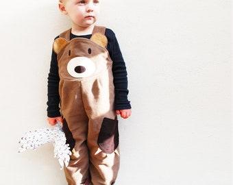 Toddler  Bear Dungaree Overalls