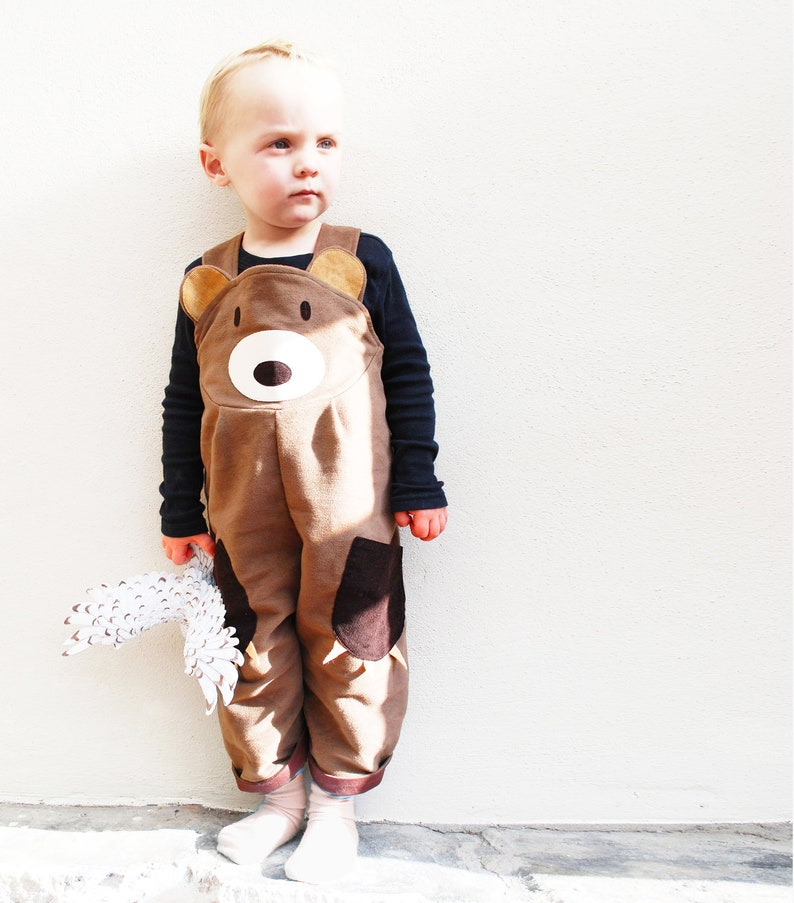 Toddler  Bear Dungaree Overalls image 0