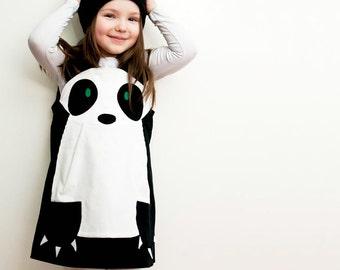 Panda girls character pinafore dress