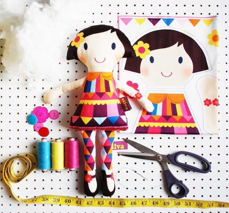 craft plush doll kit make your own DIY personalised rag doll image 0