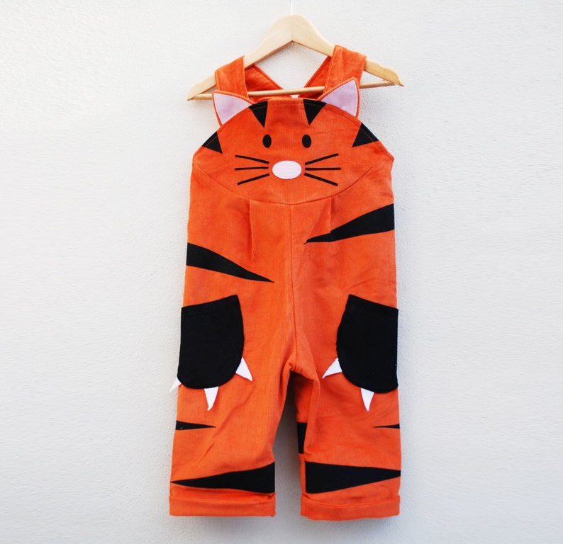 Tiger dungaree overall image 0