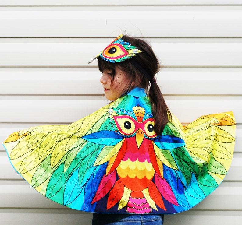 Rainbow bird festival carnival costume image 0