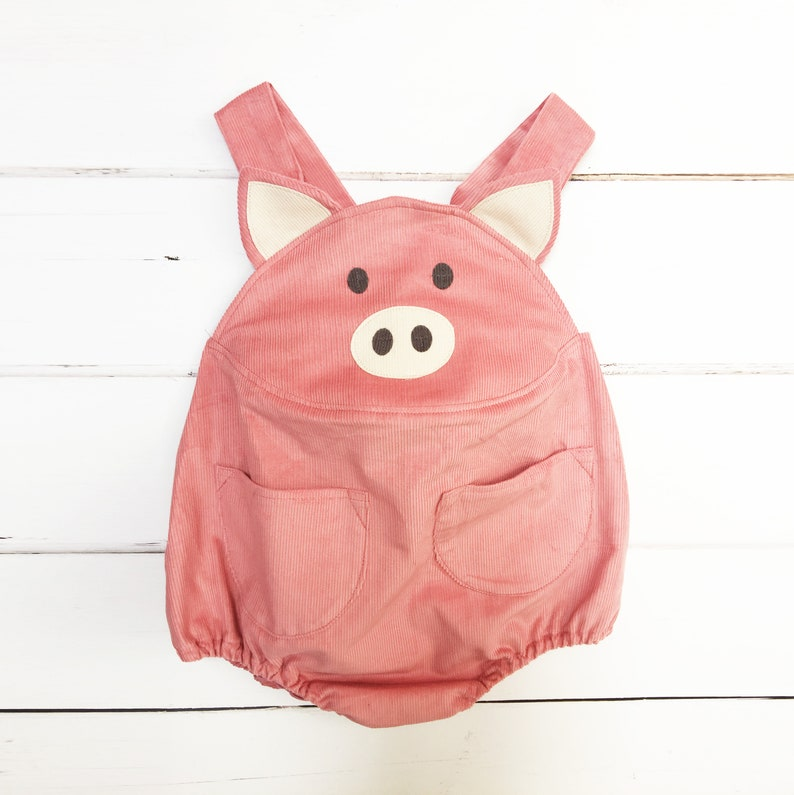 Baby pig piglet romper for babies and toddlers image 0