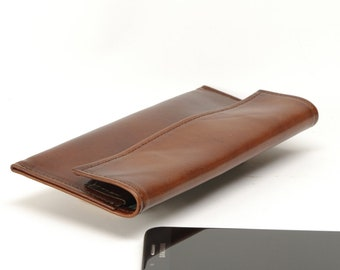 Custom  Sized Leather Horizontal Minimal Phone Belt Case