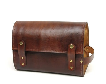 Dark Brown and Light Brown Dopp Kit - CLEARANCE -