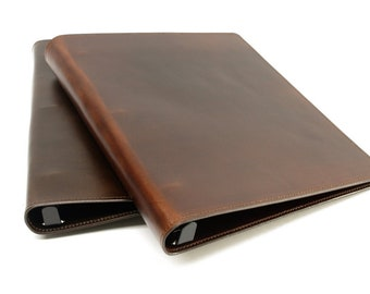 Leather 3 Ring Binder Notebook: 1/2 inch, 1 inch, 1 1/2 inch, for 8 1/2 x 11 inch Sheets STANDARD SIZE