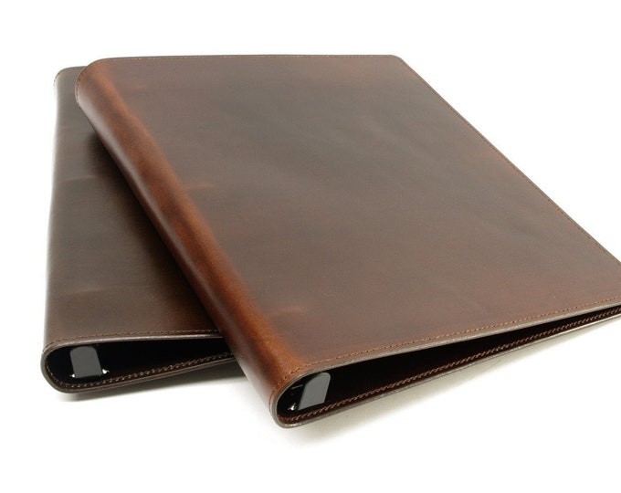 Featured listing image: Leather 3 Ring Binder Notebook: 1/2 inch, 1 inch, 1 1/2 inch, for 8 1/2 x 11 inch Sheets STANDARD SIZE