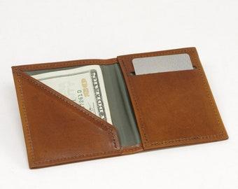 Minimalist Leather Vertical Bifold Wallet