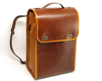 Large Leather Backpack / Rucksack / Travel Bag