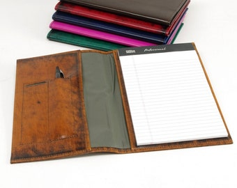 Small Leather Notebook Cover - For 5x8 Notepads
