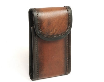 Leather Vertical Phone Belt Case with Card Slot - Custom Sizing Available