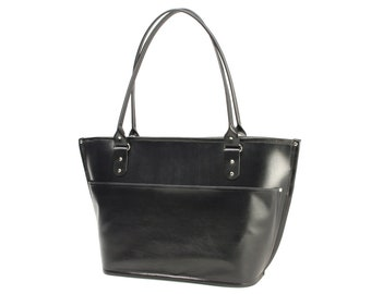 Large Leather Business Tote (zippered closure)