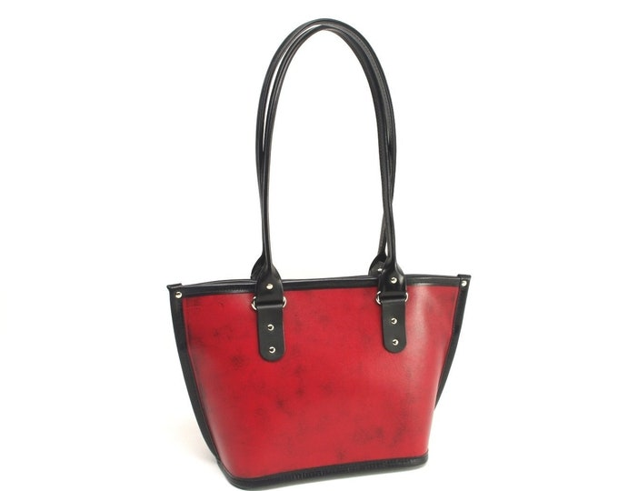 Featured listing image: Leather Tote Bag - 4 Sizes To Choose From