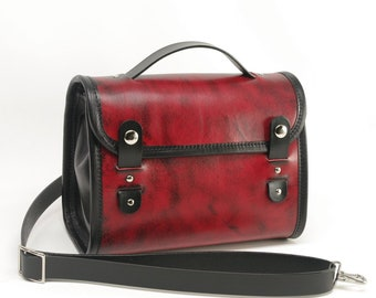 Medium Leather Messenger Crossbody Purse