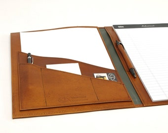 Executive Leather Notebook Cover - For 8.5 x 11.75 inch Notepads