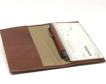 Checkbook Cover with Inside Pen Slot