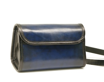 Small Leather Messenger Purse Crossbody