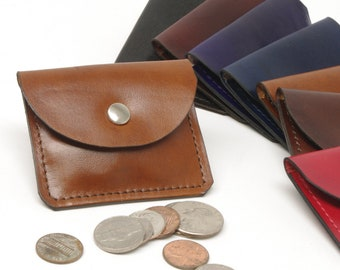 Small Leather Flap Coin Purse