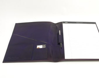 Large Leather Notebook - Purple - CLEARANCE -