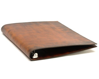 1/2 Inch Leather 3 Ring Binder Notebook