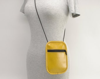 Small Phone/Passport Bag, Yellow - CLEARANCE -